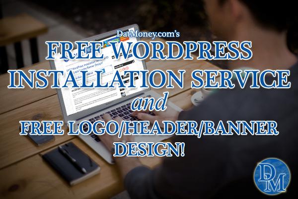 FREE WordPress Installation Service AND FREE Logo/Header/Banner Design!