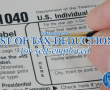 List Of Tax Deductions For Self-Employed