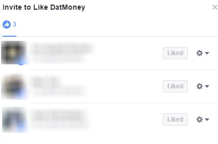 Invite Facebook Post Likes