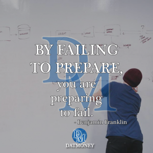 By failing to prepare, you are preparing to fail